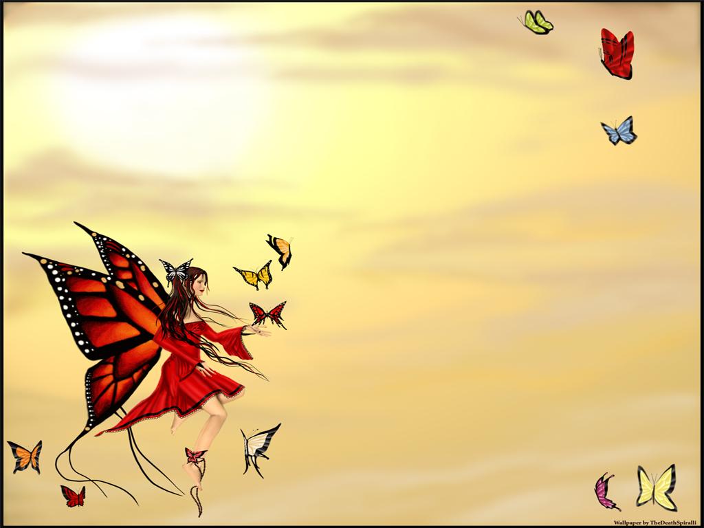 фея, девушка бабочка, с крыльями скачать фото, обои для рабочего стола