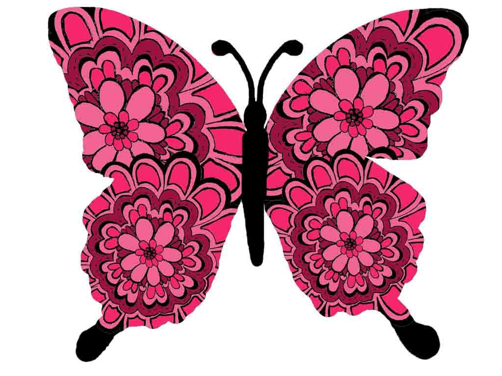 бордовая бабочка на белом фоне, клипарт, скачать фото
