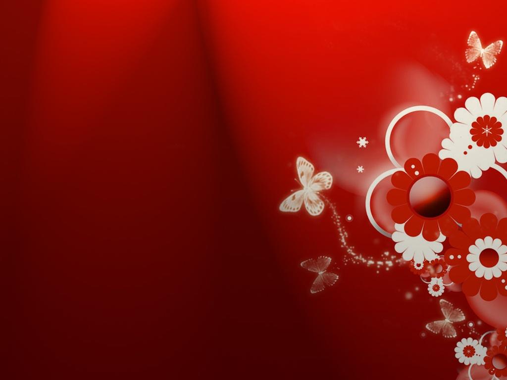 красные обои для рабочего стола, бабочка, скачать фото