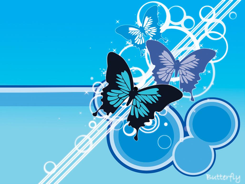 blue wallpaper butterfly, скачать фото, обои для рабочего стола