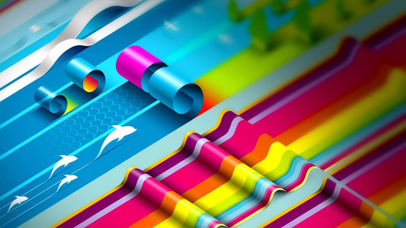 фото, бумажные полоски во всех цветах радуги, скачать фото, обои для рабочего стола