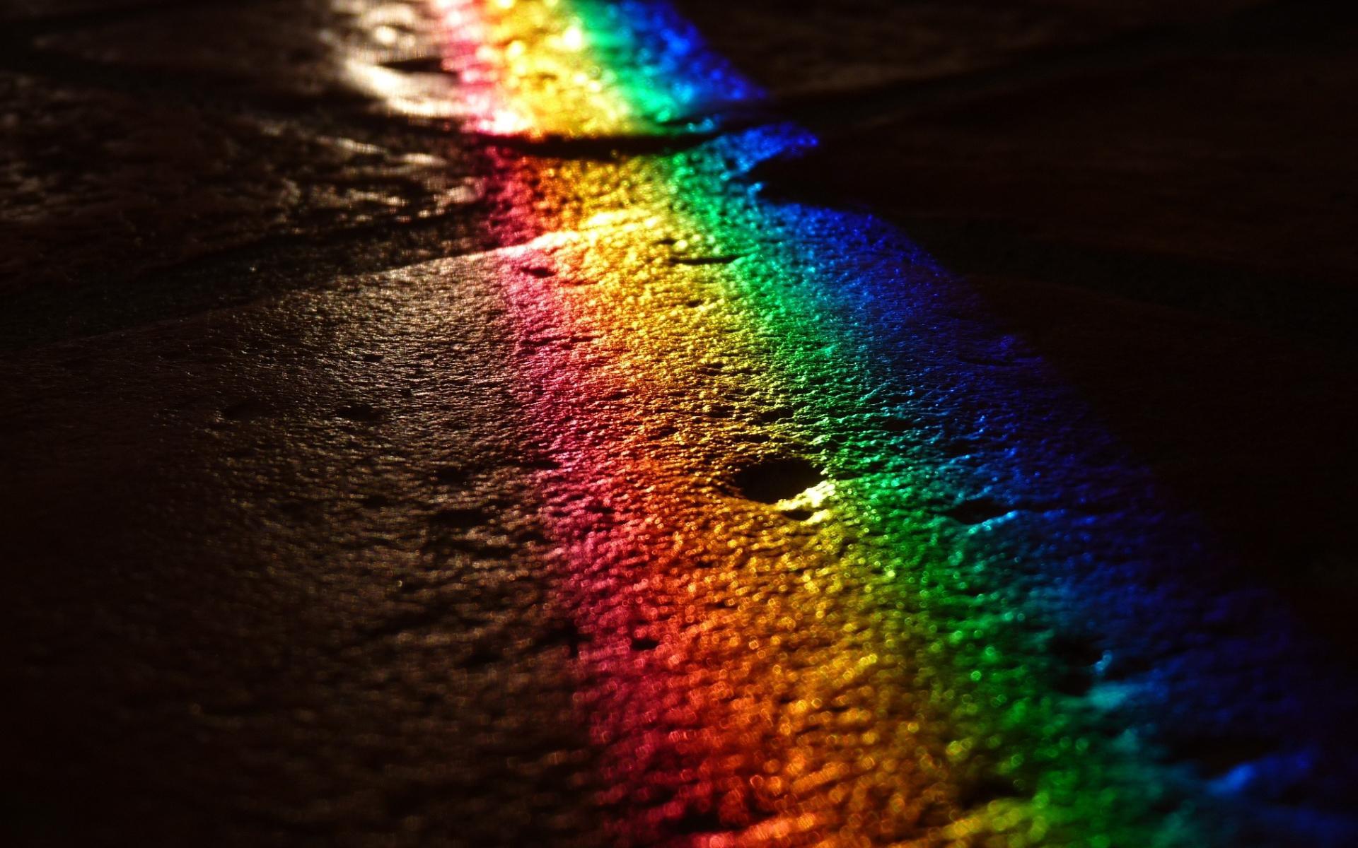 бетон, свет. радуга, скачать фото, обои на рабочий стол