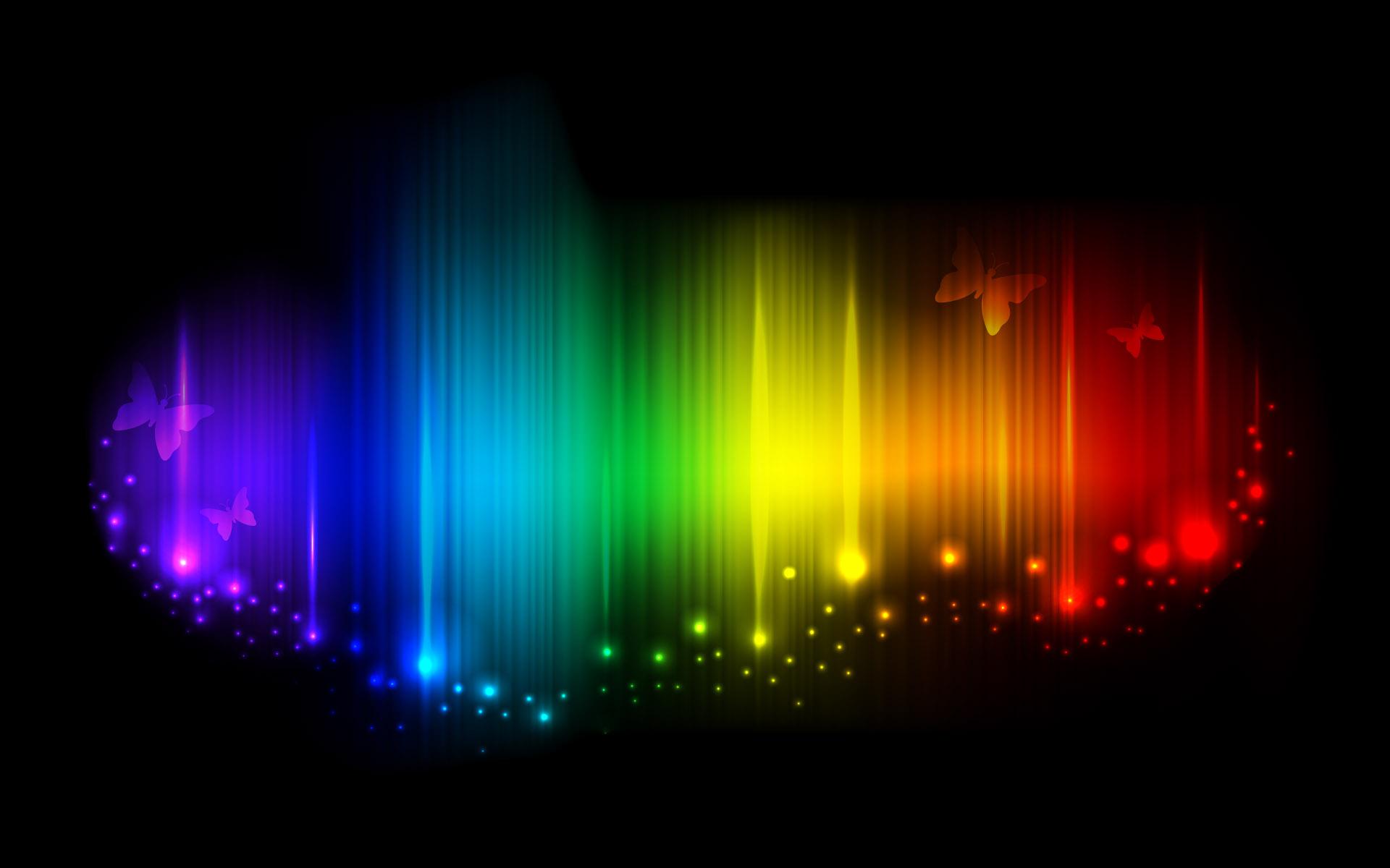 радужный свет на черном фоне, скачать фото, обои для рабочего стола, радуга