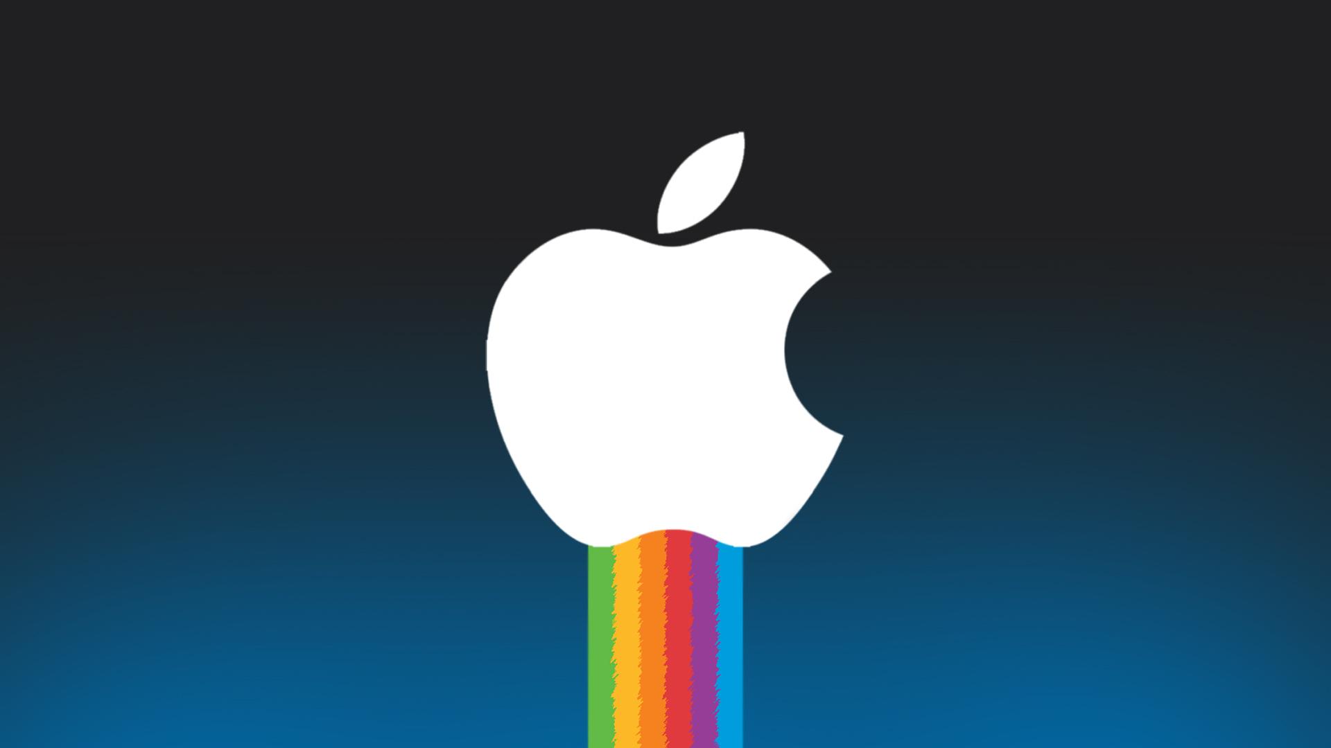 rainbow apple wallpaper, скачать фото, обои для рабочего стола