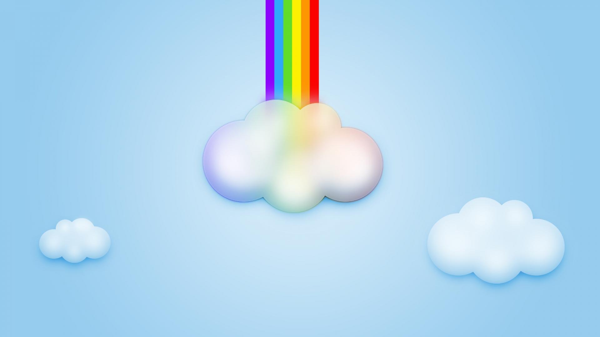 небо, sky wallpaper, облако, радуга выходит из облака, скачать фото