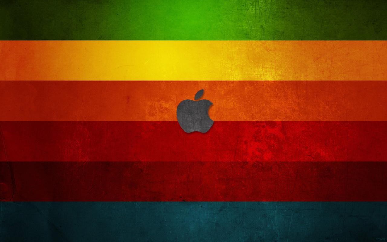 apple wallpaper, скачать обои для рабочего стола, радуга