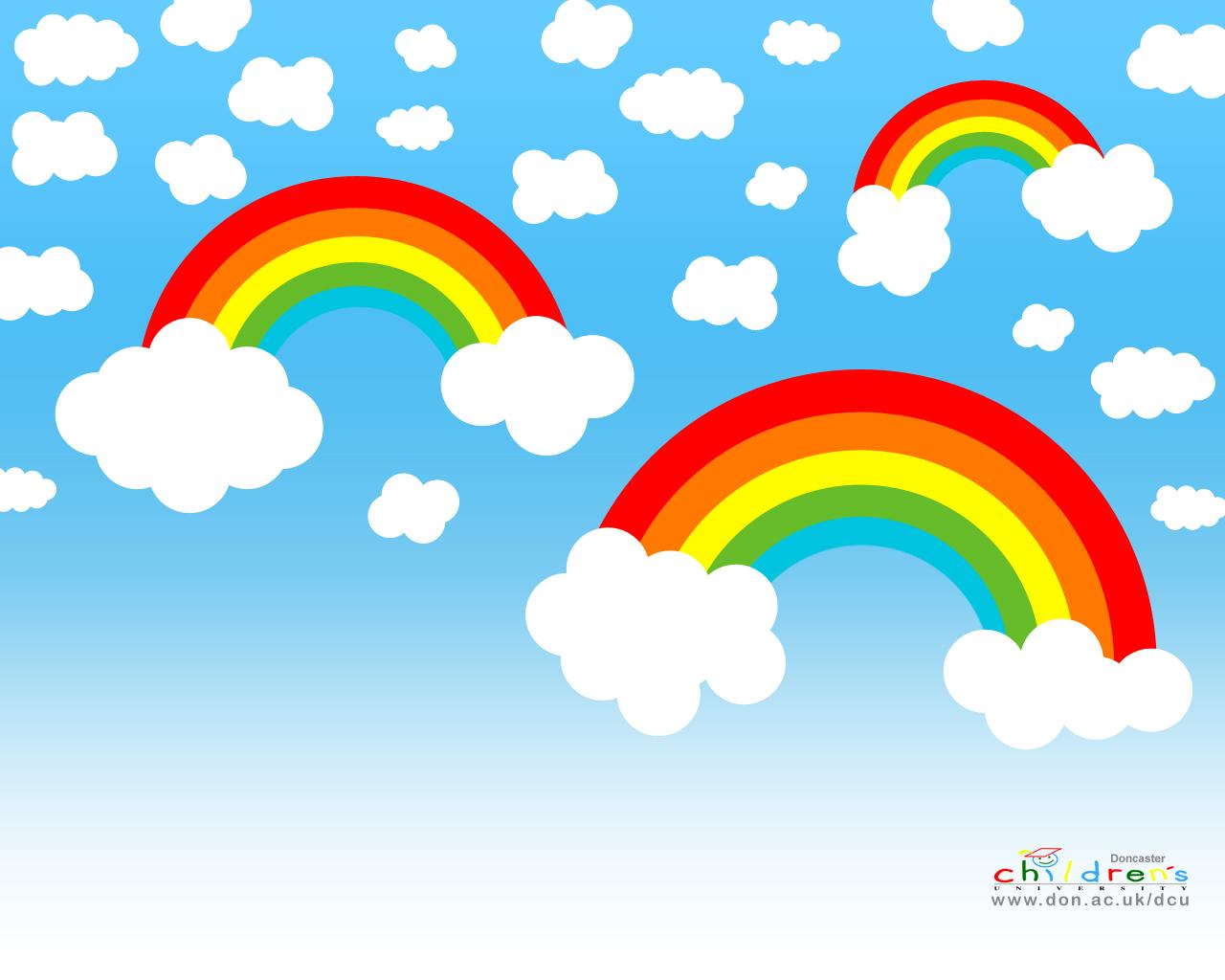 sky wallpaper, облака, небо, радуги, скачать фото, обои на рабочий стол