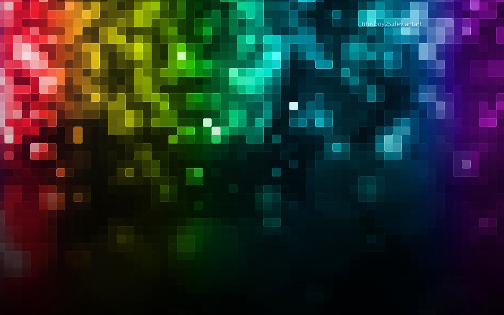обои для рабочего стола, пиксели радуги, радуга, скачать фото