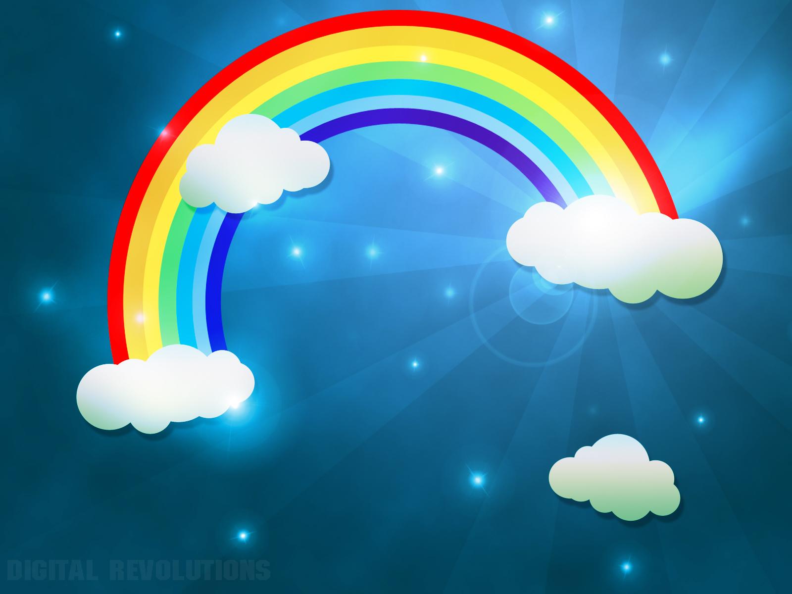 радуга, небо, облака, скачать фото, обои на рабочий стол