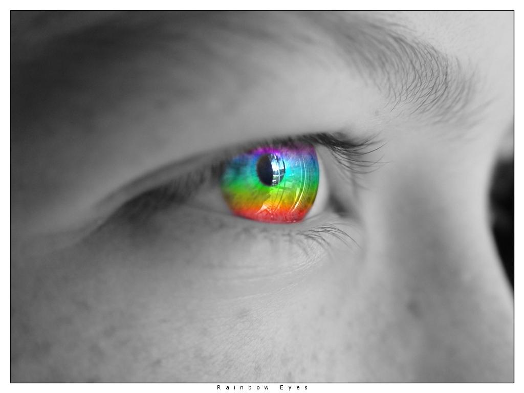 радужный глаз, радуга в глазу, скачать фото, лицо, обои для рабочего стола, радуга