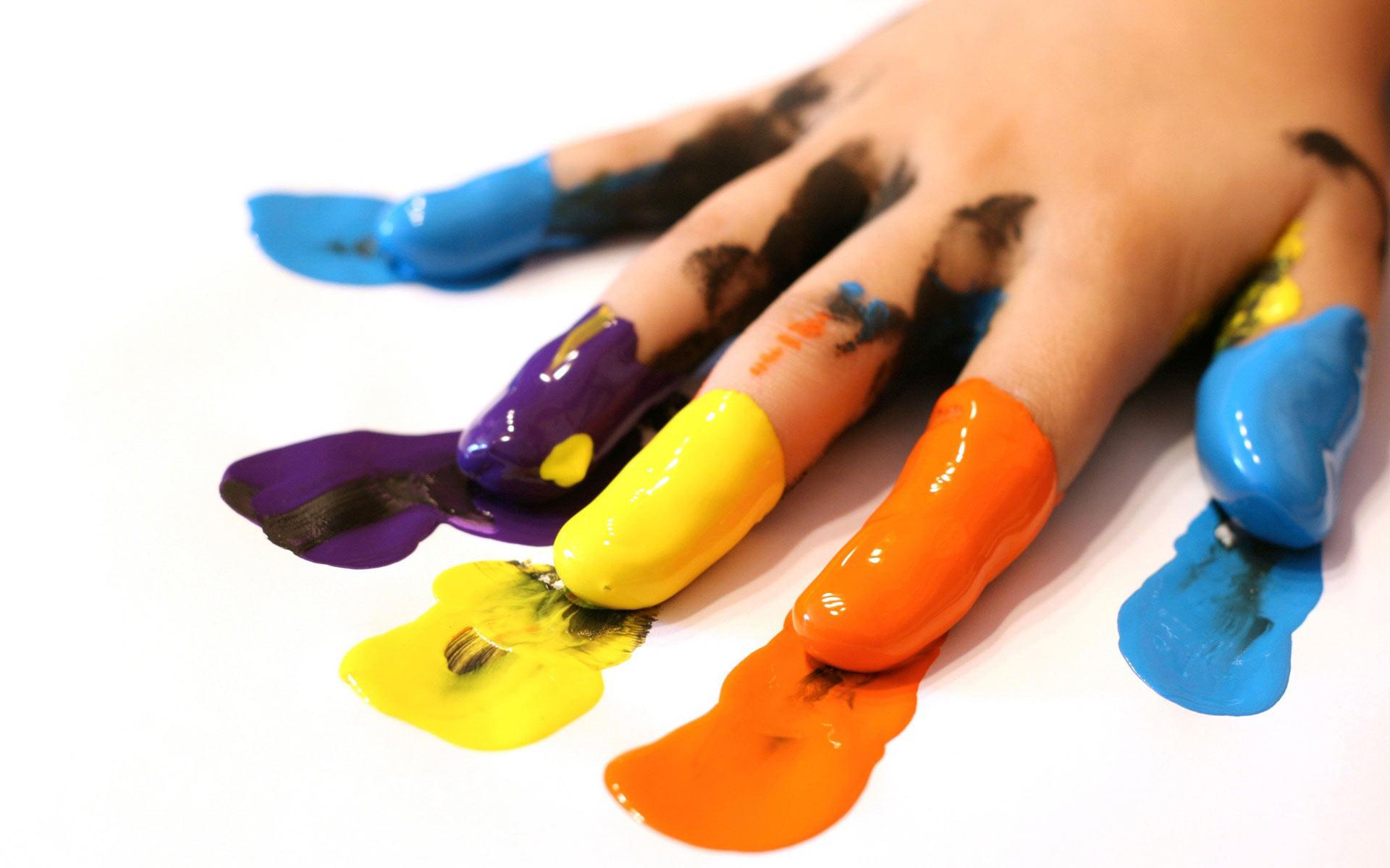 рукав краске, все цвета радуги, скачать фото, обои для рабочего стола