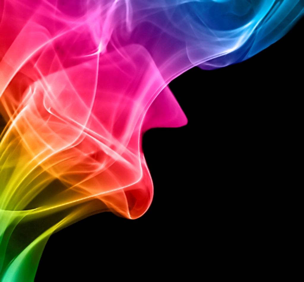rainbow smoke wallpaper, скачать фото, облако, радужный дым