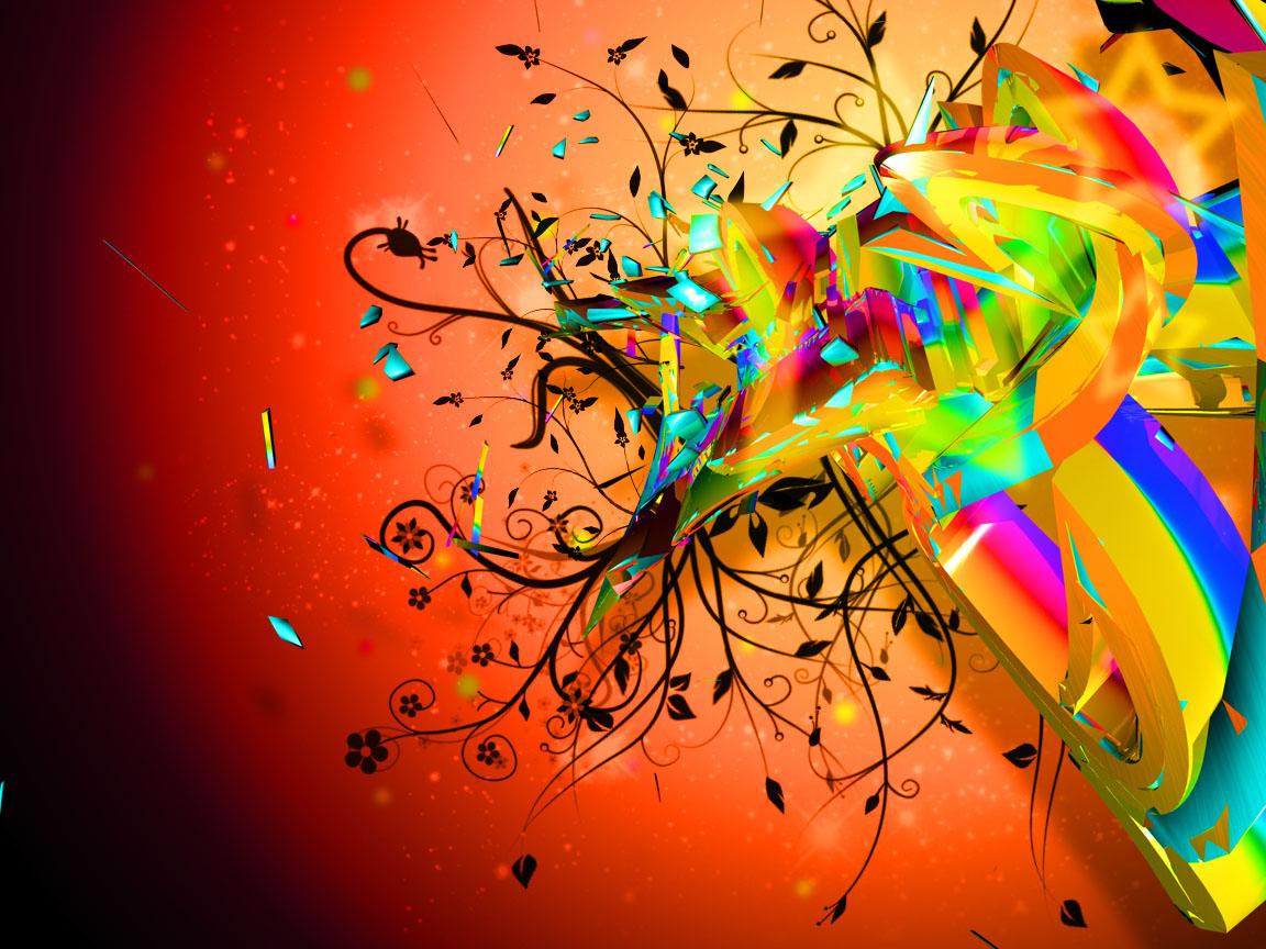 радужный взрыв, всплеск красок, скачать фото, обои для рабочего стола