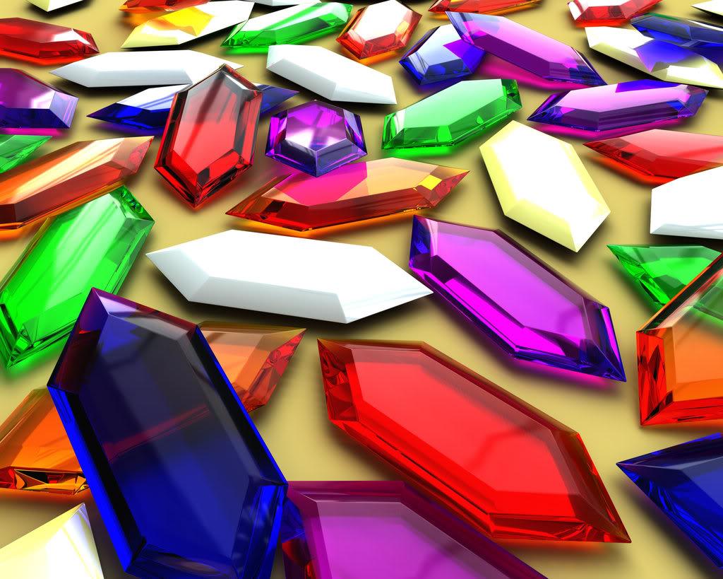 алмазы, стеклышки всех ццветов радуги, радуга, скачать фото, обои на рабочий стол