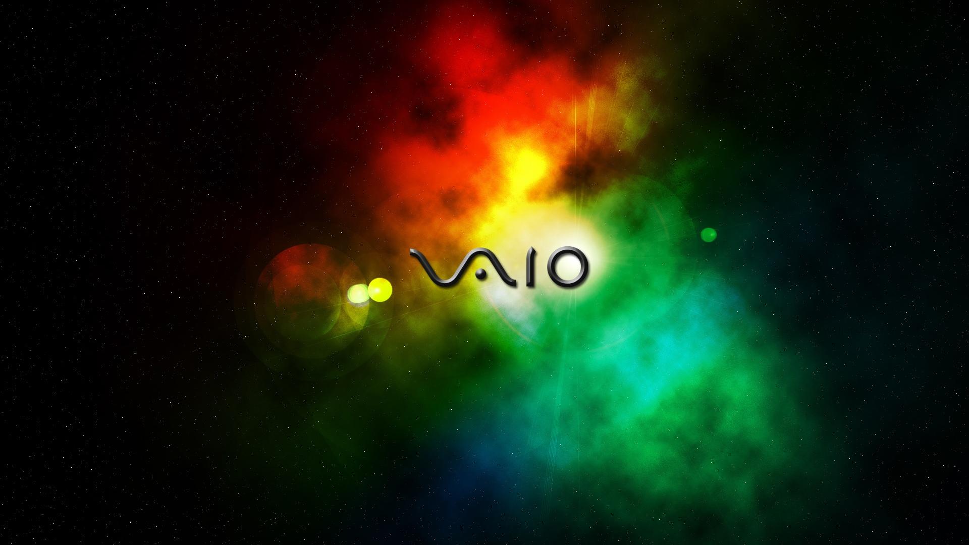 SONY Vaio Wallpaper, rainbow, радуга, Сони Вайо