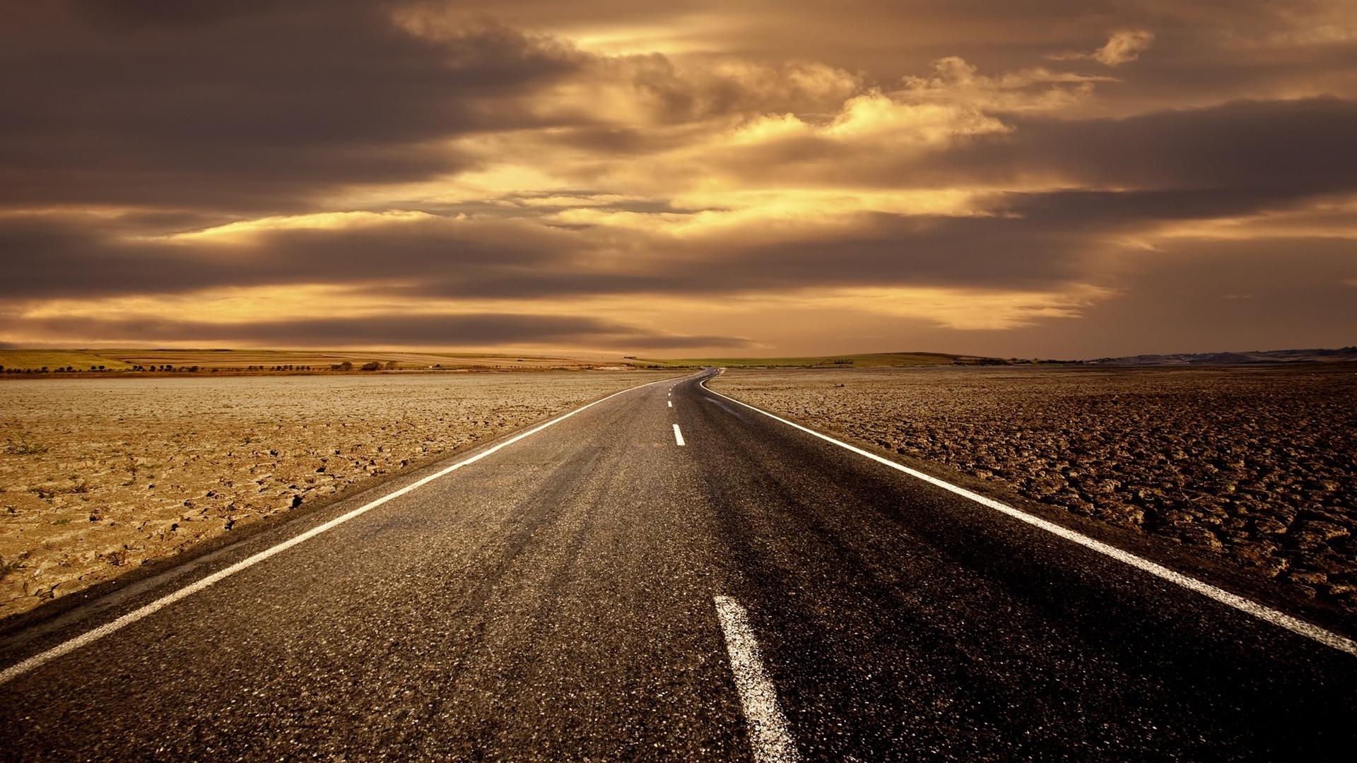 прямая дорога за горизонт, скачать фото, обои на рабочий стол, road wallpaper