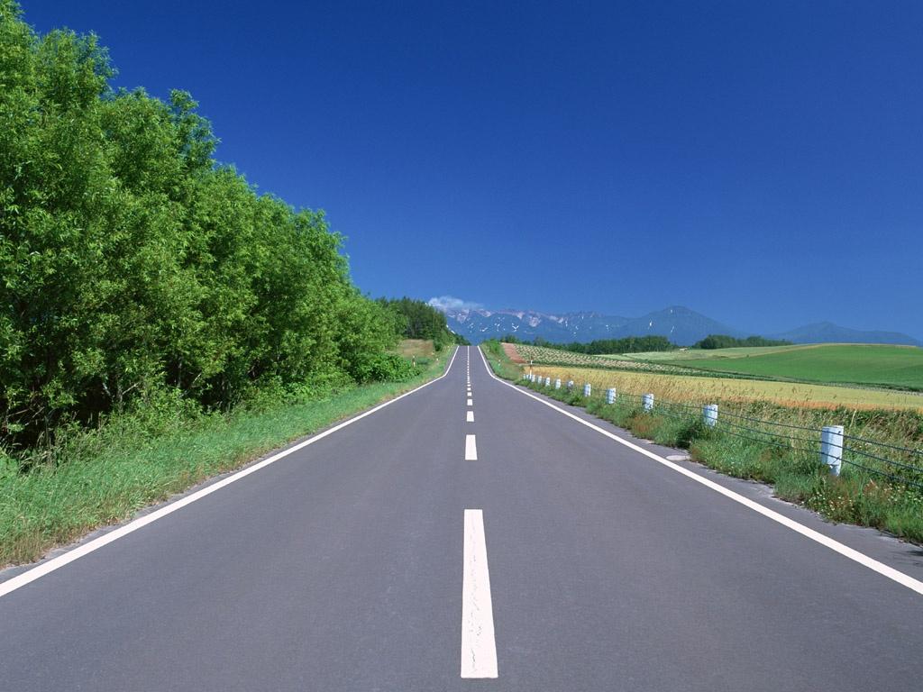 гладкая асфальтовая дорога, скачать фото, обои на рабочий стол, road