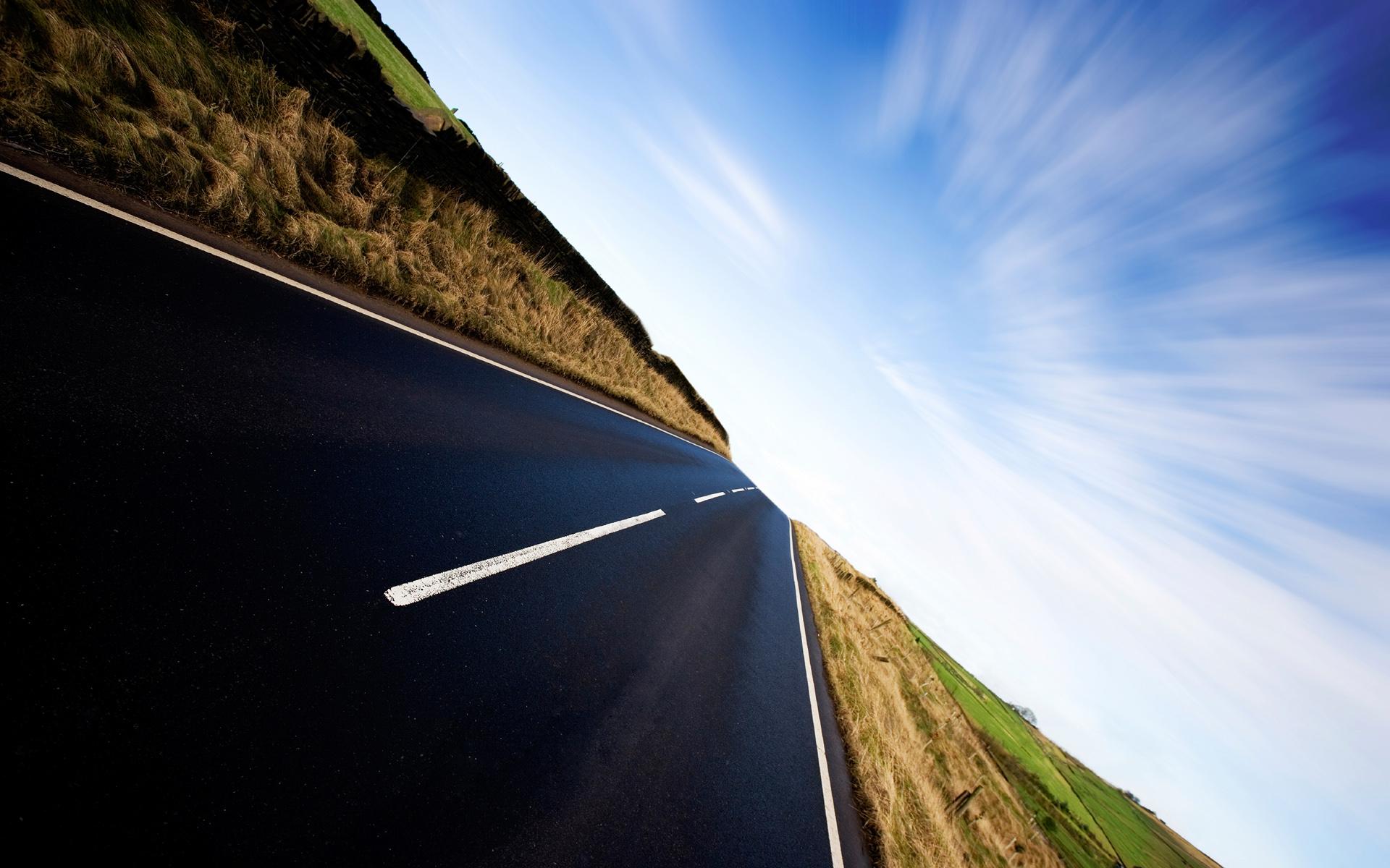 прямое как стрела шоссе, дорога, асфальт, обои для рабочего стола
