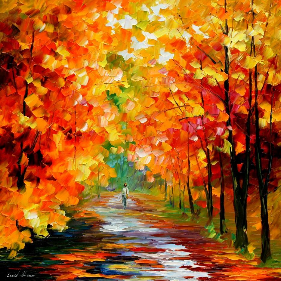 осенняя аллея, скачать фото, листопад, осенние листья, осень