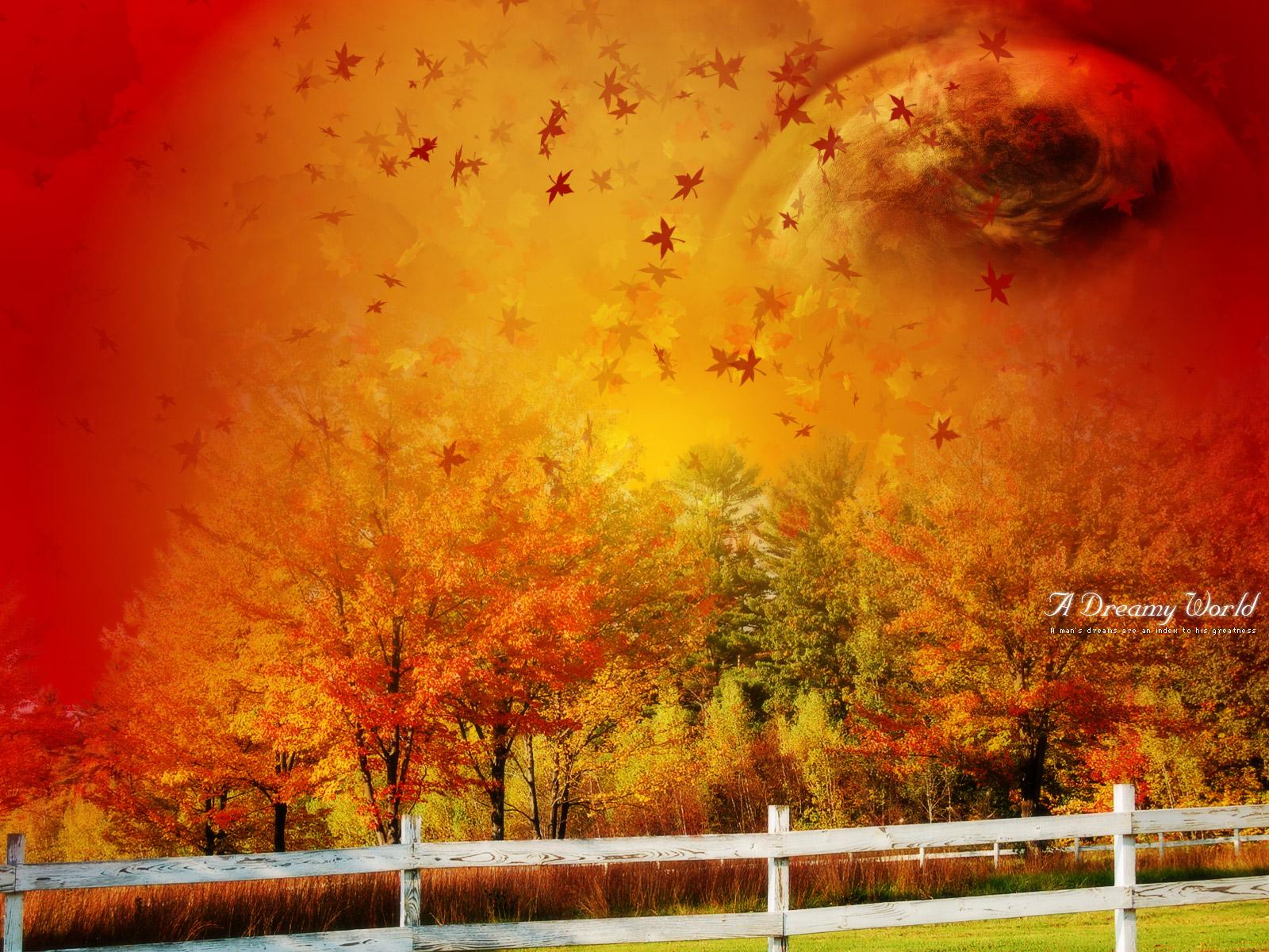 осень листопад, ветер, скачать фото, обои для рабочего стола