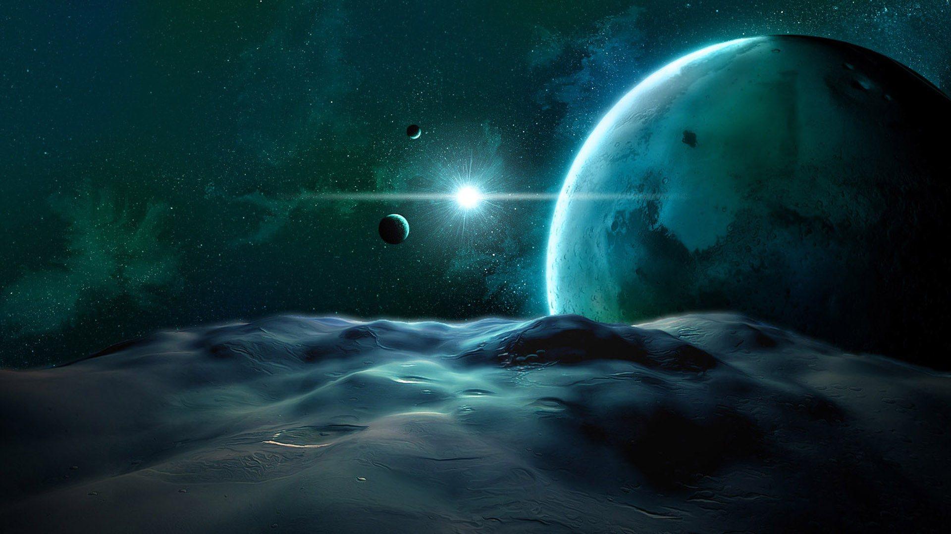 инопланетный ландшафт, обои на рабочий стол, космос