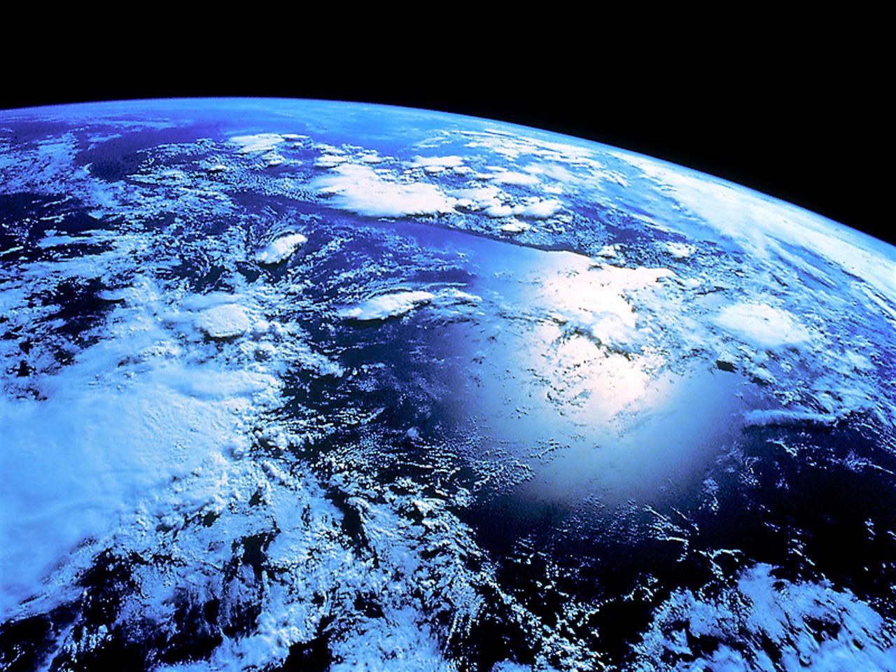 Земля из космоса, обои на рабочий стол, космос