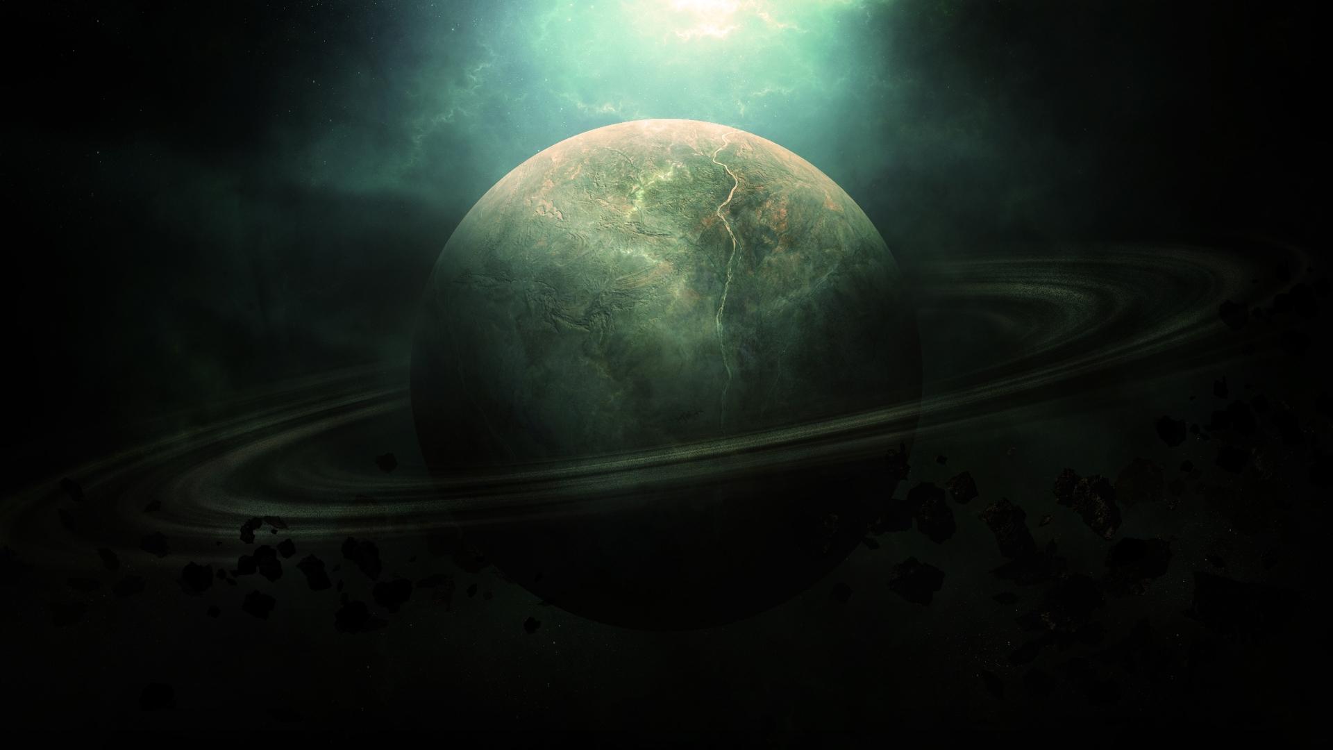 свет космос, планет с астероидным поясом, скачать фото, обои для рабочего стола