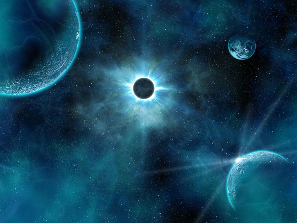 солнечное затмение в космосе, скачать фото, space wallpaper, обои для рабочего стола