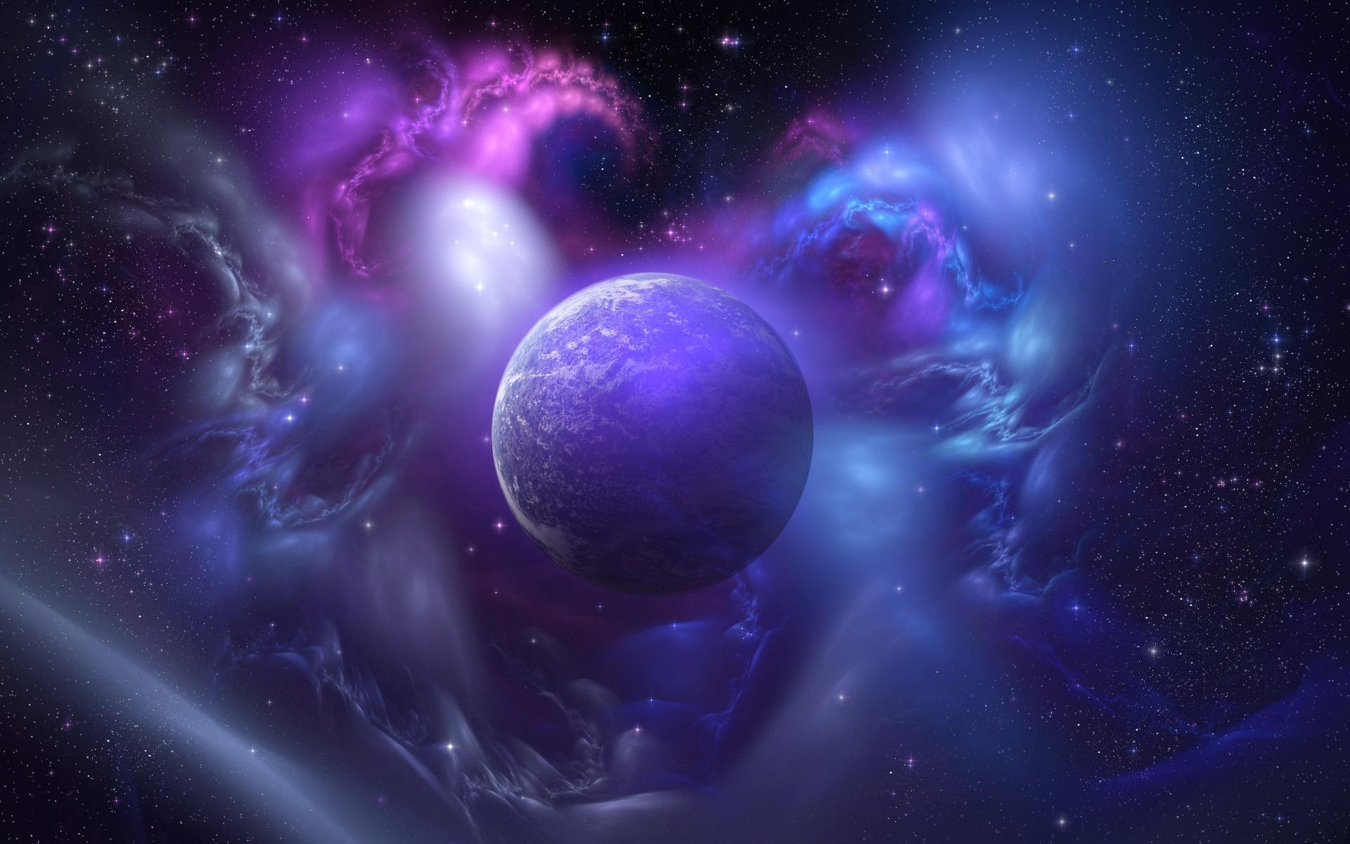 космос, фиолетовый мир, скачать фото, space wallpaper