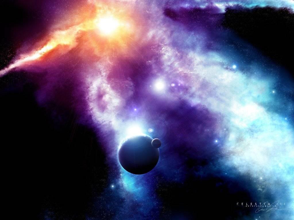 галактика, свет, разноцветные звезды, обои для рабочего стола, space wallpaper