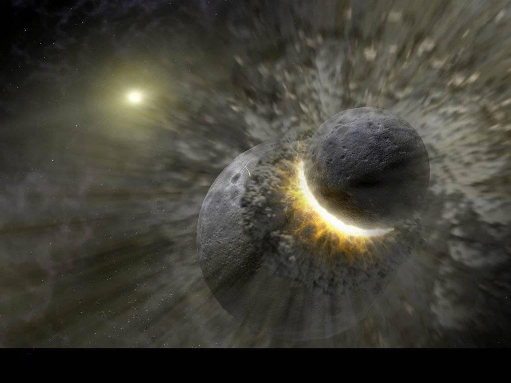 косьщс, удар метеорита в планету, взрыв, конец света, обои на рабочий стол
