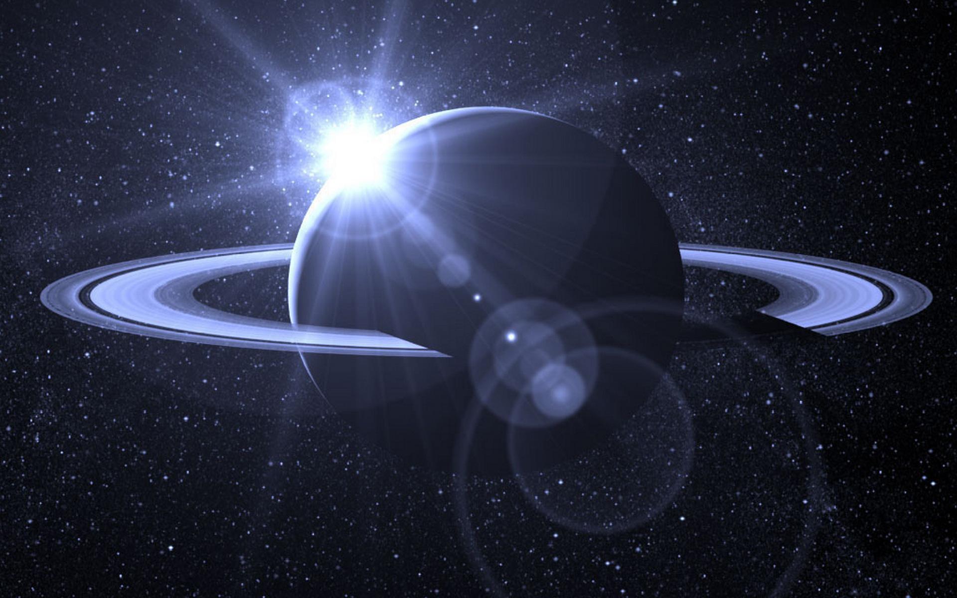 сатурн и солнце, космос, обои на рабочий стол, space wallpaper