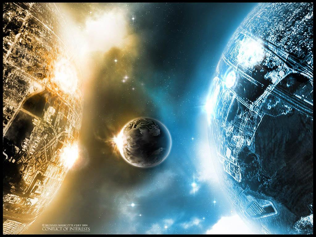 планеты, спутник, космос, скачать фото