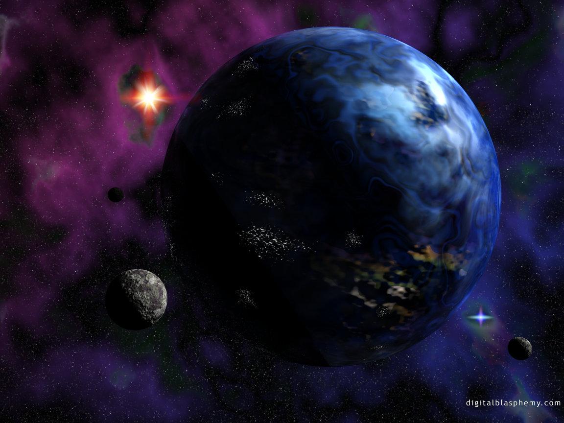 большая темная планета космос, галактика, скачать фото