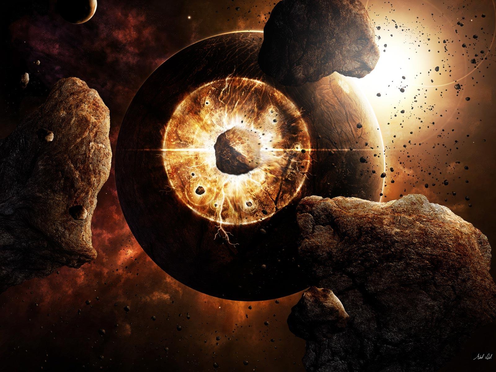 взрыв планеты, скачать фото, космос, обои для рабочего стола
