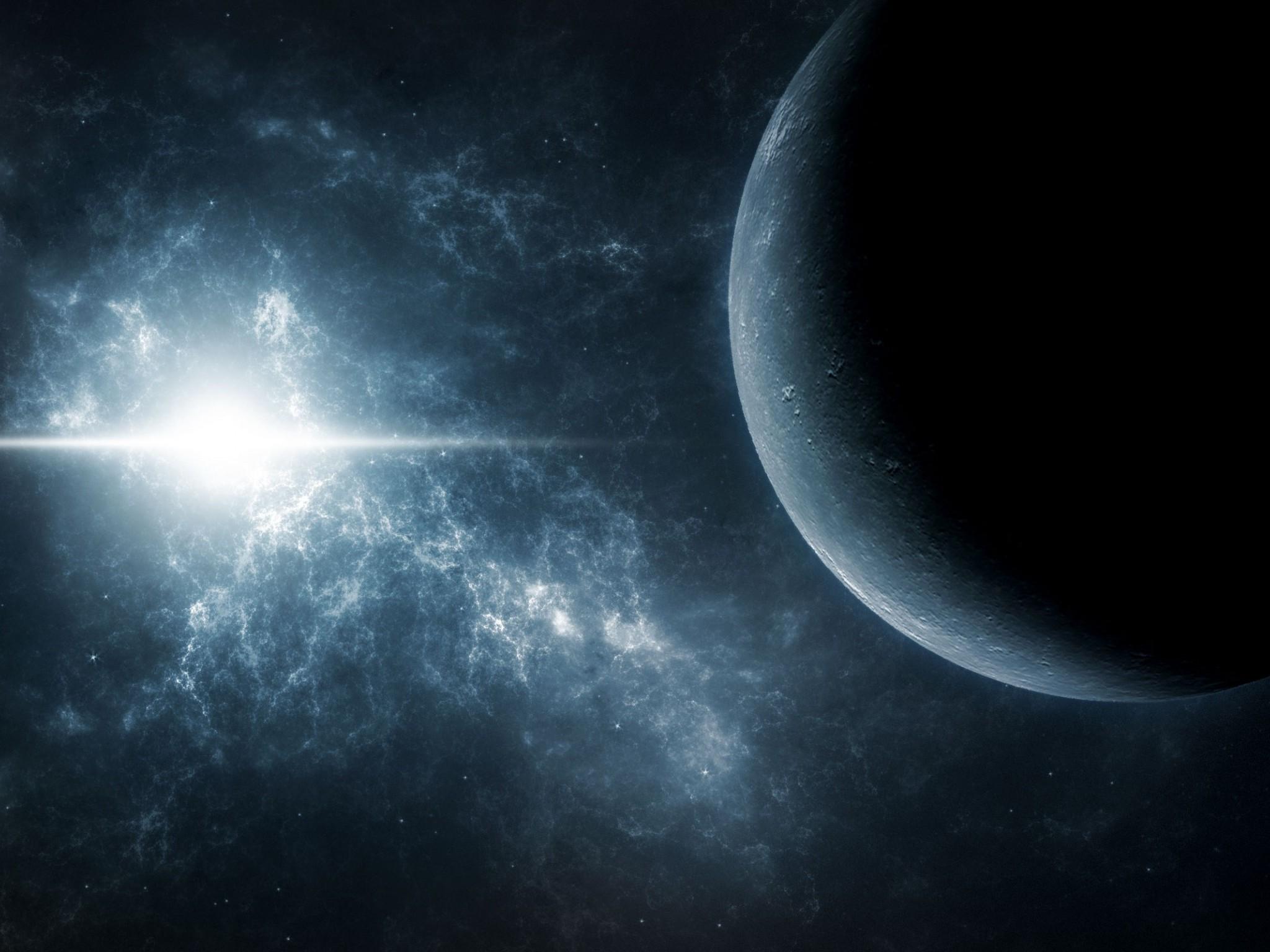 космос, планеты, яркая звезда, фото