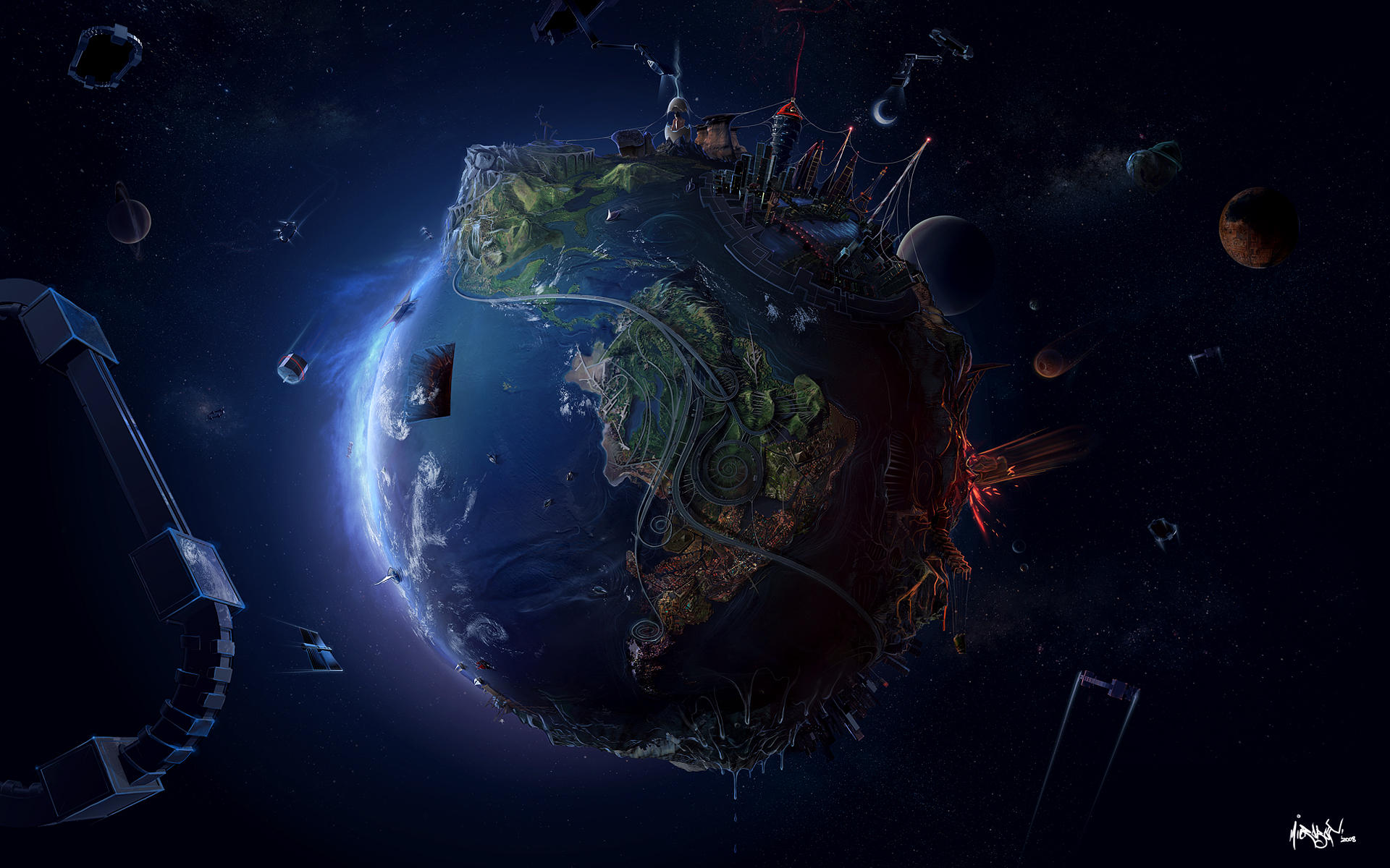 Earth, Земля, фото, обои для рабочего стола, космос