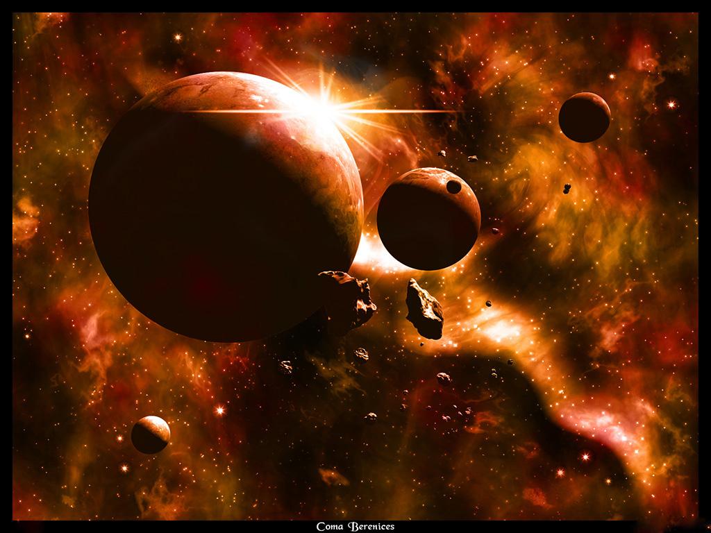 space planet wallpaper, планеты в космосе, скачать фото