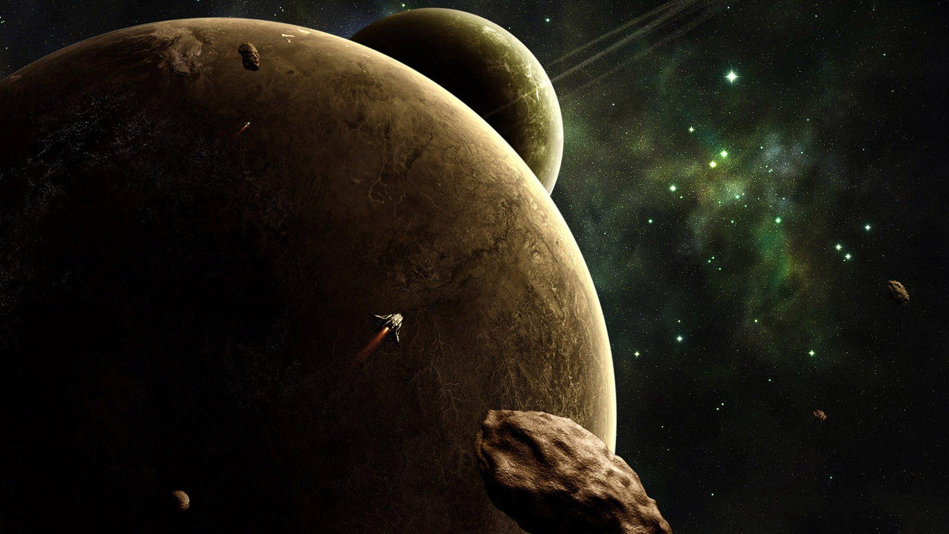 несколько планет, космос, звезды, скачать фото
