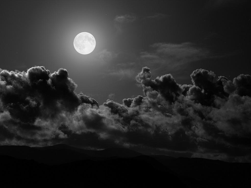 night moon wallpaper, ночь, луна, небо, скачать фото обои для рабочего стола