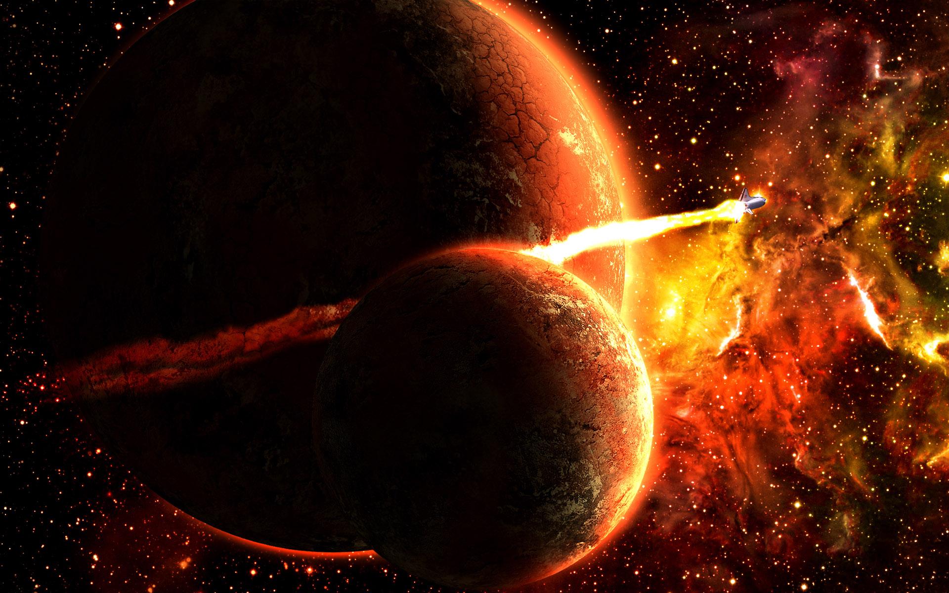 космос, планеты, взрыв, звезды