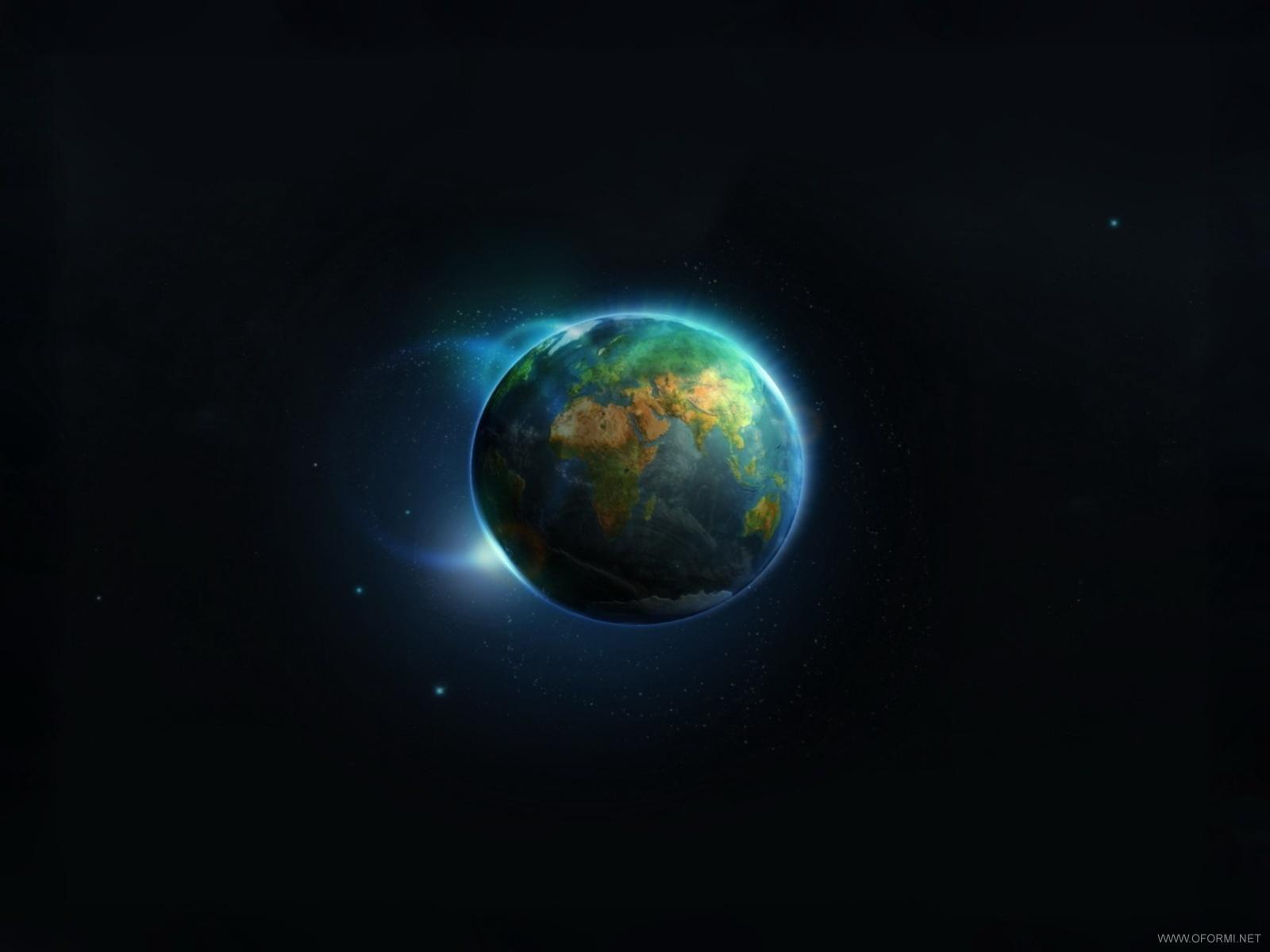планета Земля на черном фоне, космос, обои для рабочего стола