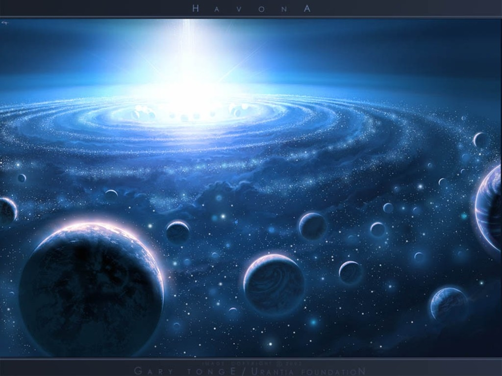 много планет, центр галактики, скачать фото, свет, взрыв, космос, обои для рабочего стола