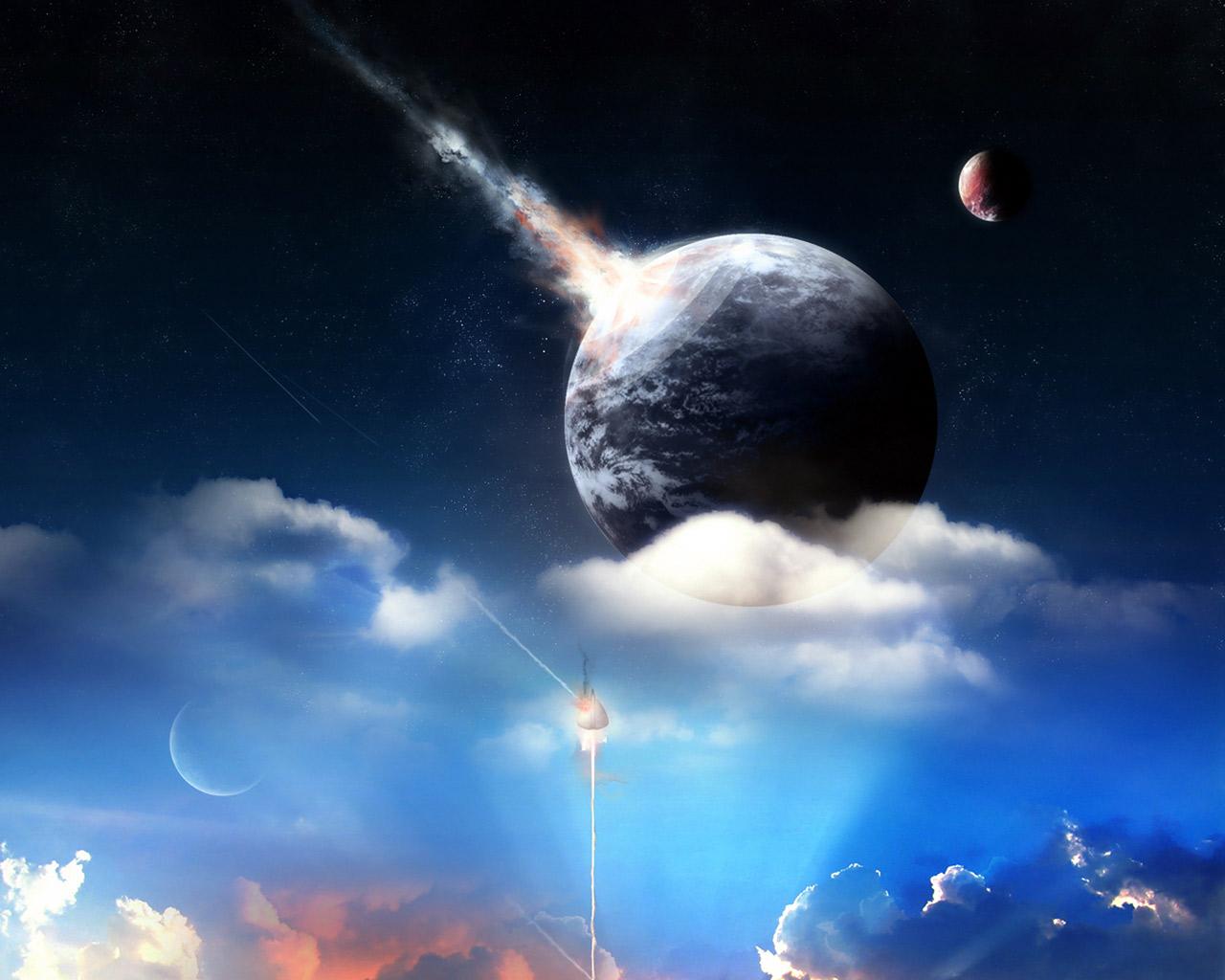 запуск ракеты, планета, небо, скачать фото, космос, обои для рабочего стола, space wallpaper