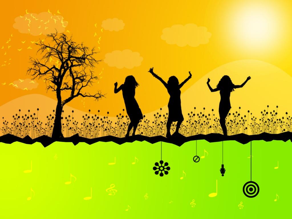 лето, девушки, orange summer wallpaper, скачать фото