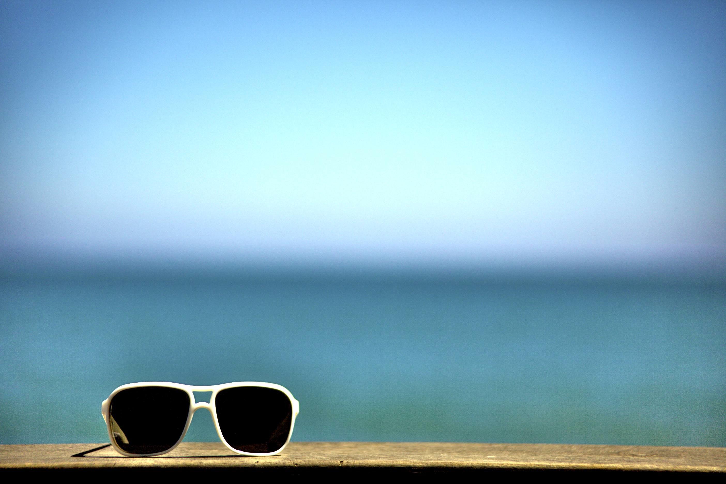 солнцезащитные очки, скачать фото, обои для рабочего стола, море, лето
