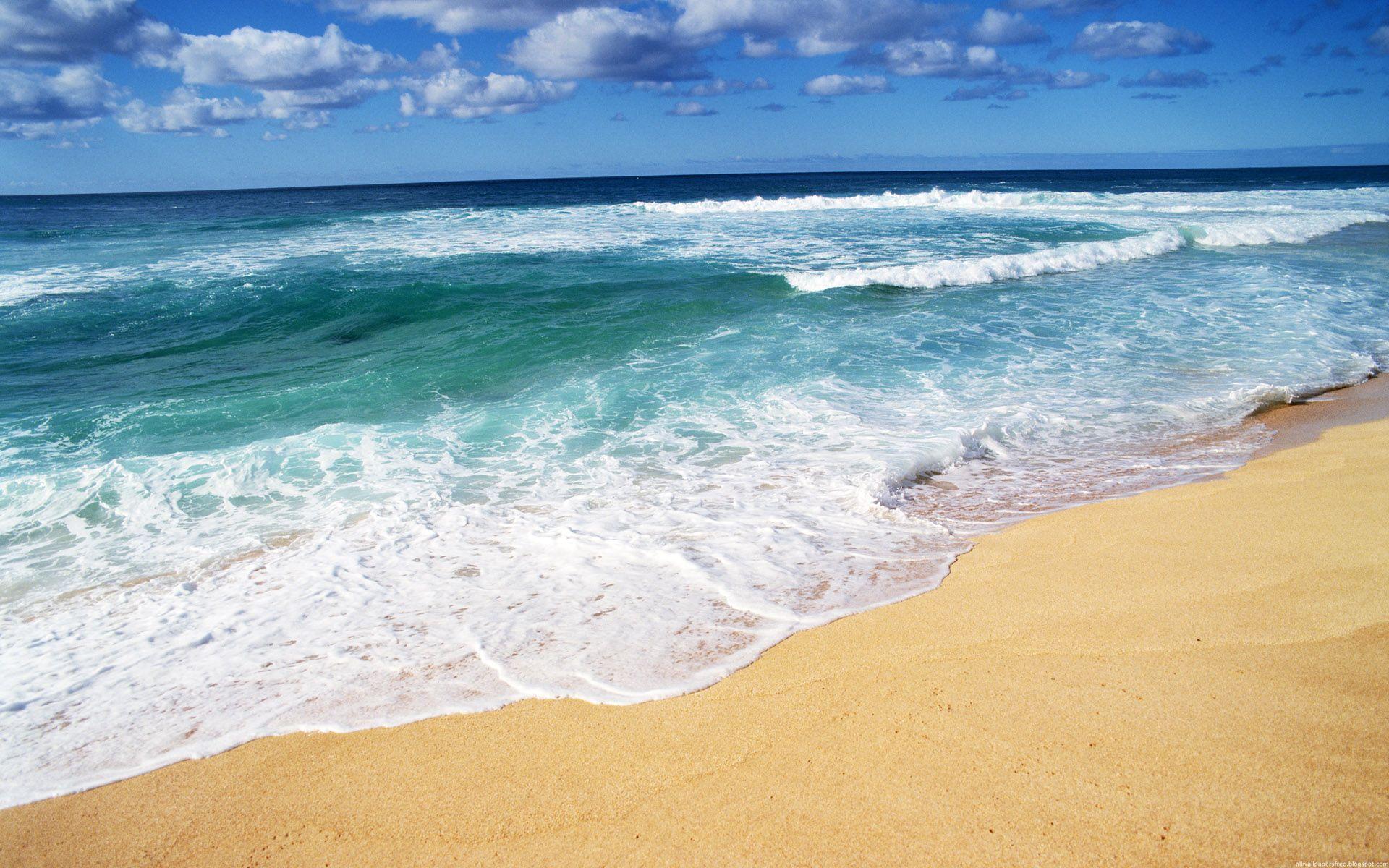 Обои на рабочий стол пляж песок море