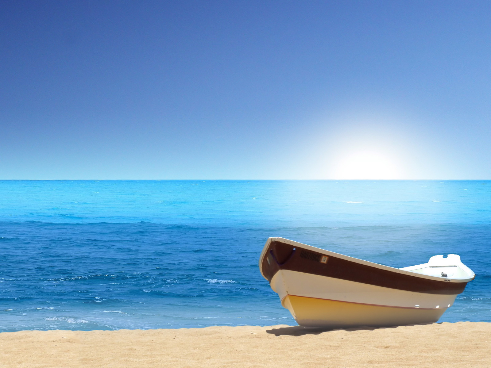 пляж, море, лодка, песок, скачать фото, обои для рабочего стола