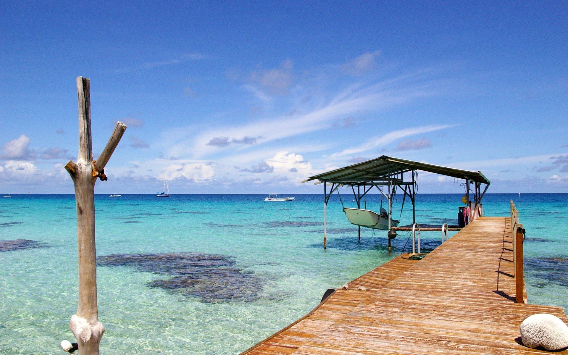 море, песок, пляж, фото, пальмы, пирс, пристань