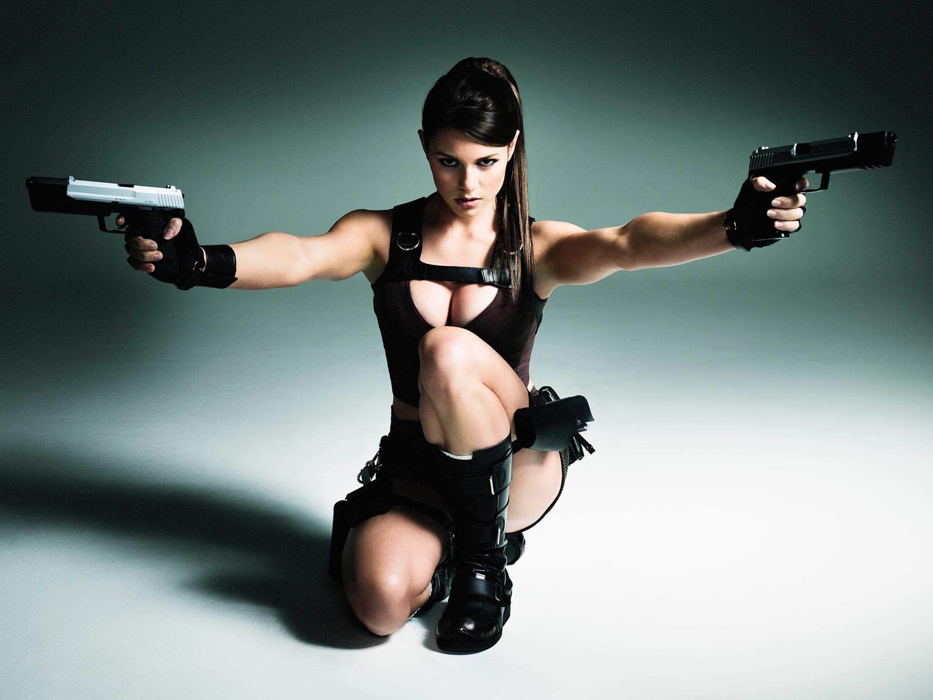 Том Райдер, расхитительница гробниц, девушка с пистолетами, Tomb Rider, скачать фото, обои для рабочего стола
